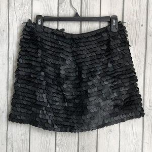 Zara Womans Faux 3D Leather Mini Skirt Sz XS Black